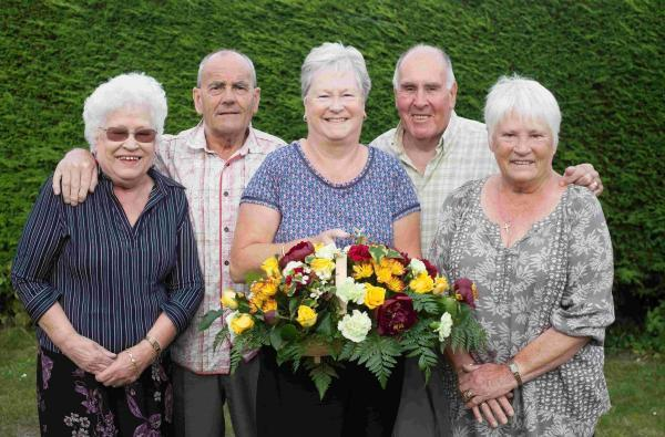 Hampshire Chronicle: June Hopes, Gwen Ivory and Ann Driscoll celebrated their anniversaries with Terry Hopes and Robin Ivory. Unfortunately Mr Driscoll was unwell and not able to attend.
