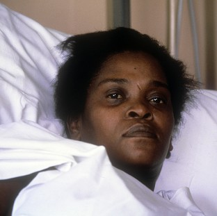 Cherry Groce after she was accidentally shot by police