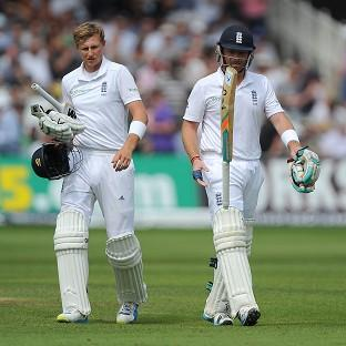 Things went from bad to worse for Ian Bell, right, and England