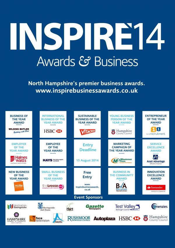 Today is the last chance to enter the INSPIRE14 Business Awards