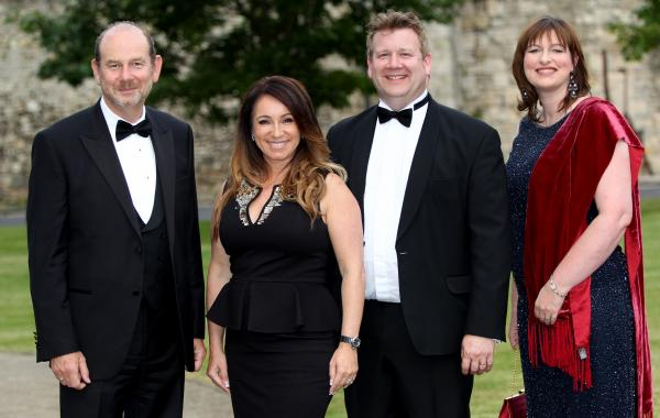 From left, Daily Echo editor Ian Murray, guest of honour Jacqueline Gold, major sponsor Simon Rhodes of Trethowans, and Newsquest Hampshire managing director Amanda Davison-Young.