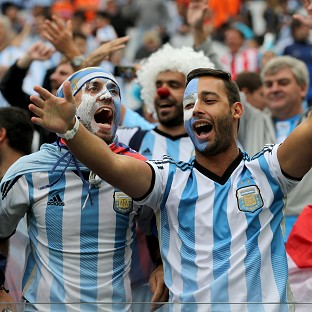 Fans of Argentina and Germany living in the UK gathered to watch the World Cup final