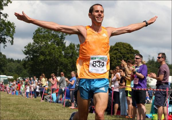 Steve Way wins today's New Forest 10 mile race