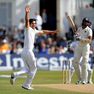 Alastair Cook's struggles with the bat continued but he had fun with the ball on day five at Trent Bridge