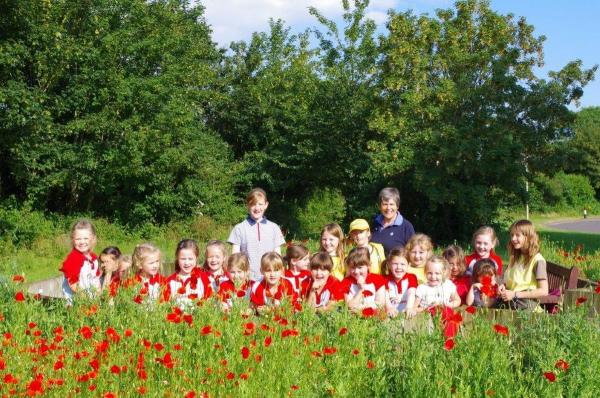 Volunteers from around the village came together to sow poppies seeds in time to commemorate the war at the sensory garden