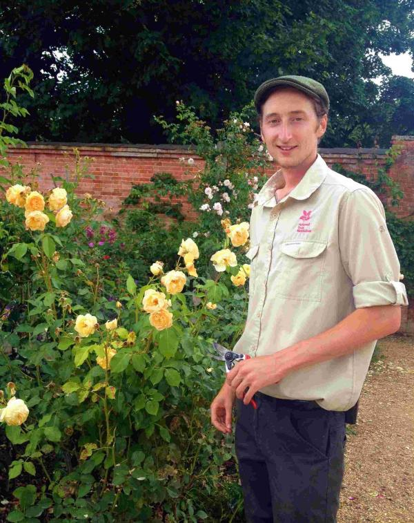 Jonny Bass (pictured) maybe the youngest ever head gardener the Trust has appointed.