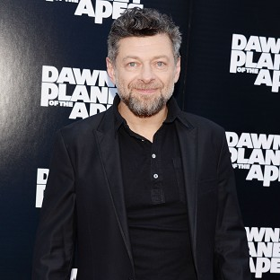 Andy Serkis has said playing an ape is tough on the legs