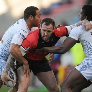 Gareth Hock, centre, has been handed a seven-match suspension