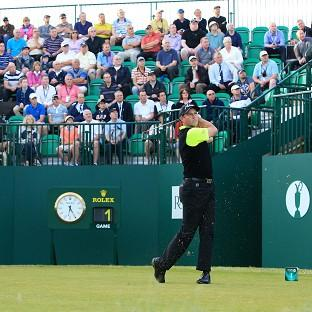 David Howell got the Open Championship under way at Royal Liverpool in perfect early-morning conditions