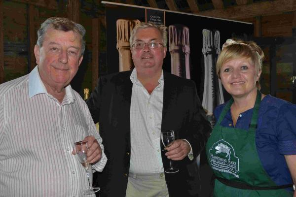 Hampshire Chronicle: Lord Wakeham, Simon Robinson, of Hattingley Valley Wines, and Tracy Nash of Hampshire Fare