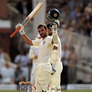 Ajinkya Rahane celebrates his century