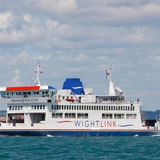 A Wightlink ferry on it