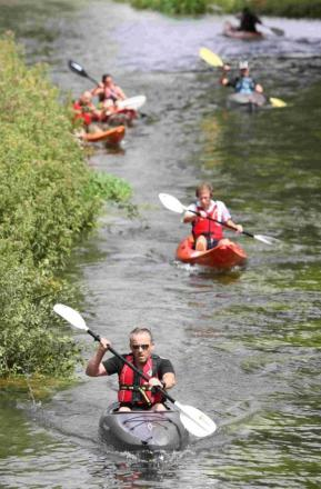 A total of 480 people took part in this year's Pedal-Paddle-Pace triathlon which raised £30,000 for Ma