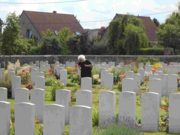 Cllr Eileen Berry visited the Windy Corner cemetery on the Western Front in France where Sgt Fred Berry is buried.