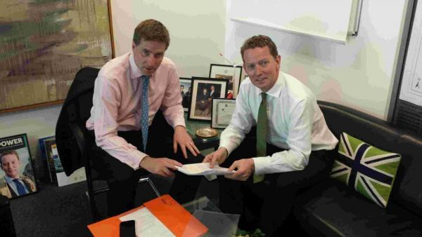 Steve Brine visits government minister Greg Barker to lobby on behalf of Winchester residents