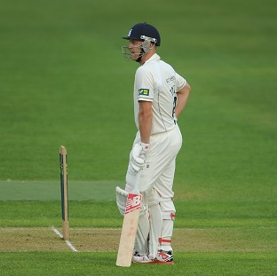 Jonathan Trott brought up three figures with the bat