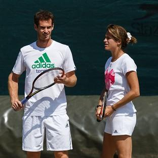 Andy Murray, left, and Amelie Mauresmo, right, started working together before Wimbledon