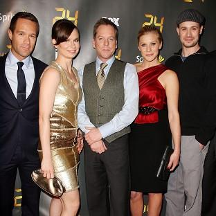 Freddie Prinze Jr (far right) worked with Kiefer Sutherland (centre) on season eight of 24 in 2010 (Rex)