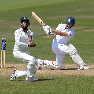 Gary Ballance, right, added impetus to England's innings