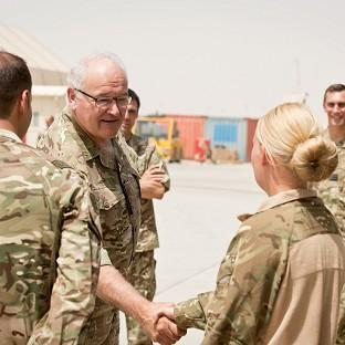 General Sir Peter Wall meets servicemen and women who oper