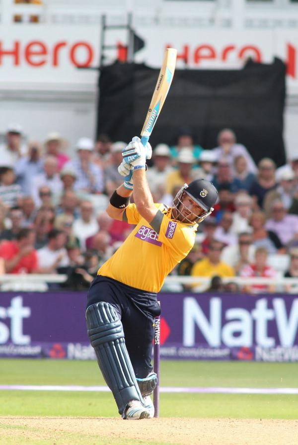 Sean Ervine during his vital 39 for Hampshire against Nottinghamshire