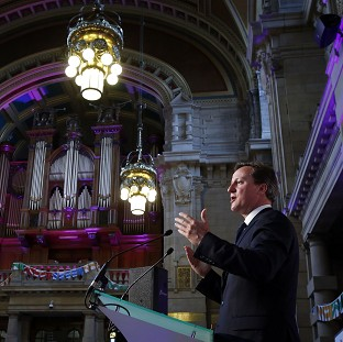 Prime Minister David Cameron attends a reception at Kelvingrove Art Gallery in Glasgow, ahead of the closing ceremony of the Commonwealth Games