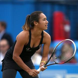 Heather Watson, pictured, faces Dominika Cibulkova in the second round