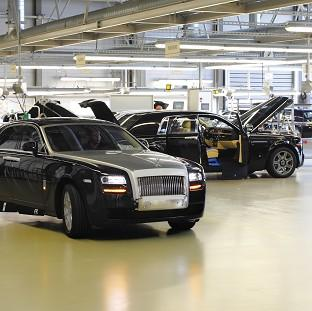 The Rolls-Royce Motorcars factory at Goodwood near Chichester