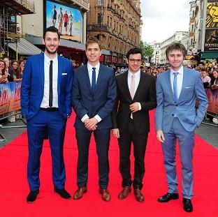 Blake Harrison, Joe Thomas, Simon Bird and James Buckley attending the premiere of T