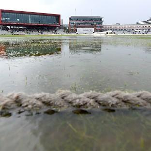 Rain dominated the second day of the fourth Test between England and India at Old Trafford