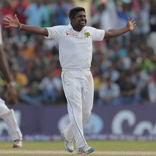 Sri Lanka bowler Rangana Herath took six for 48 to help his side to victory (AP)