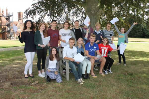 Some of HCS's best-ever A-level crop celebrate their success