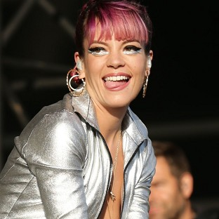 Lily Allen accidentally flashed the crowd at the V Festival