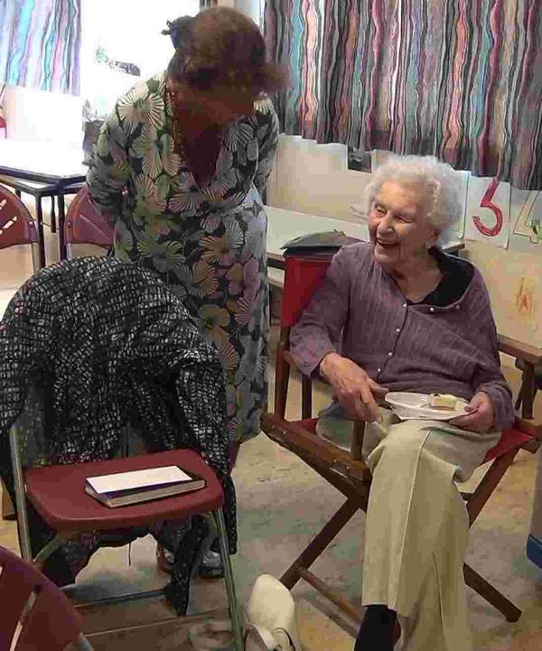 Joyce King celebrated her 100th birthday surrounded by friends at Winchester Art Clu