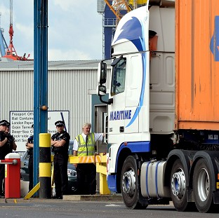 A man was found dead among a group of immigrants inside a shipping container at Tilbury Docks in Essex
