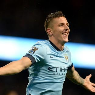 Stevan Jovetic helped Manchester City make an early statement in the title race