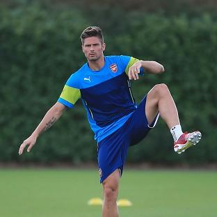 Arsenal's Olivier Giroud picked up an injury i