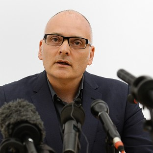 Michael Jacobs of the Royal Free Hospital in north London gives a news conference on the condition of Ebola sufferer William Pooley