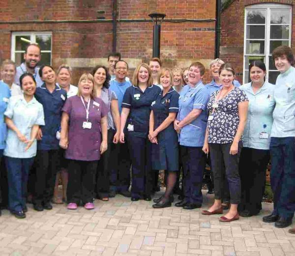 The team at Royal Hampshire County Hospital's Clifton Ward celebrate their awards success