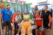 Oliver Baucutt, Mike Thompson, Junior Walker, Lynda Gostelow and John Harvey at West Downs Day Nursery