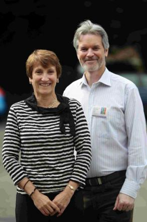 Amanda Wiltshire, from the De La Rue Charitable Trust and Richard Thayer, o