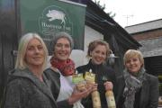 From left: Kate Hibbert of The Southern Co-operative with Melissa O'Dwyer of Little Bee Bakery, Sarah Woodrow of Hill Farm Juice, and Tracy Nash of Hampshire Fare