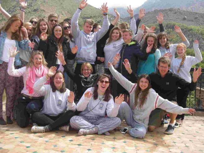 Peter Symonds College students in Morocco.