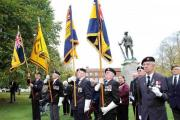 Standard Bearers at the opening of the Field of Remembrance at Winchester Cathedral on Tuesday.