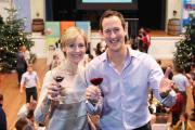 Saturday Kitchen presenters Susie Barrie and Peter Richards toast Winchester Wine Festival