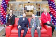 Manager Timothy Tatke, with Basingstoke and Deane Mayor Cllr Roger Gardiner, with the Mayoress Tricia Gardiner, and George McMullan, from the British Heart Foundation