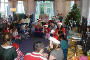 Children spread festive cheer at old people's home