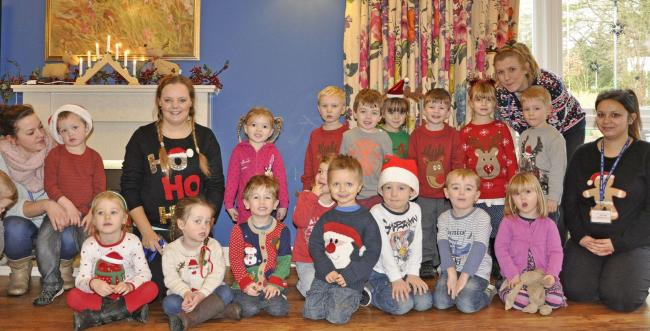 Toddlers entertain care home residents with festive sing-along