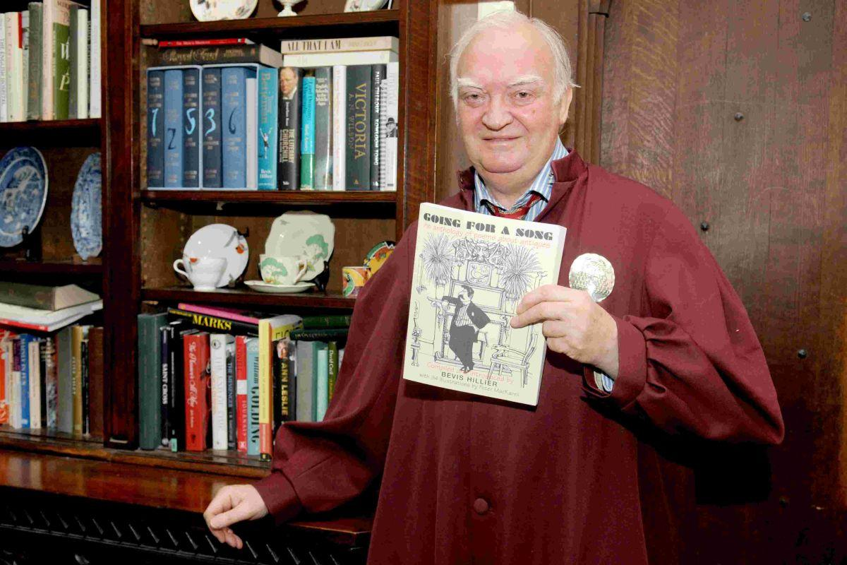 Acclaimed author Bevis Hillier now has AN Wilson's book about Queen Victoria within easy reach in his bookcase