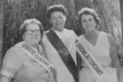Hilda Courtney, 1981's senior carnival queen, flanked by her attendants Hilda Perry (left) and Doris Hazell